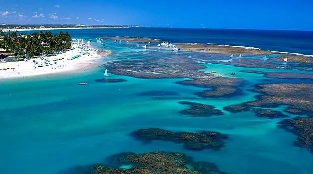 corais e piscinas naturais de Porto de Galinhas