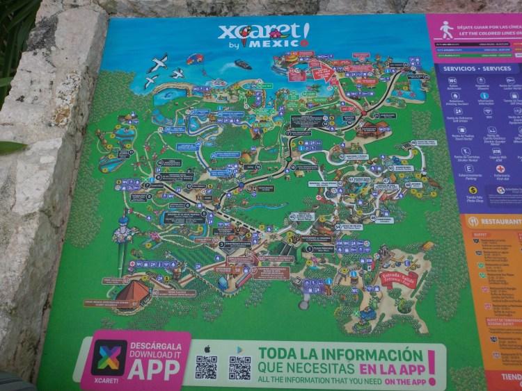 xcaret mapa