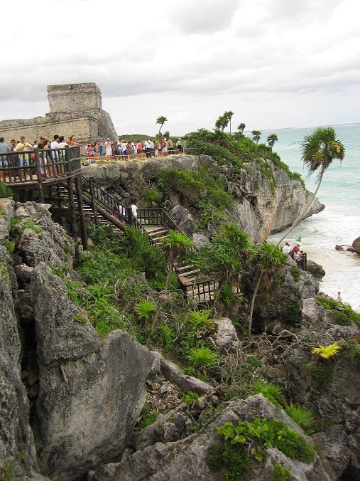 As ruínas de Tulum, na costa da Península de Yucatán