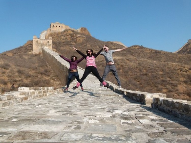 Jump around, Muralha da China