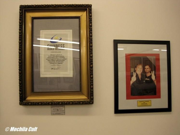 Certificado do Guinness e Rodolfo com Ringo Star
