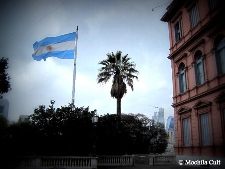 Esplanada de acesso dos presidentes que visitam a Casa Rosada
