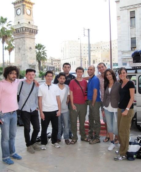 Esse é o grupo com quem fui à praia de Latakia