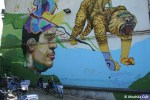 Street art portenha de bike