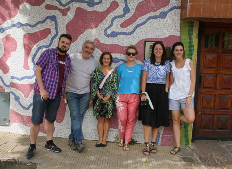 Vários blogueiros participamos do tour nesse dia; Túlio, Gisele, Ligia e a Paula
