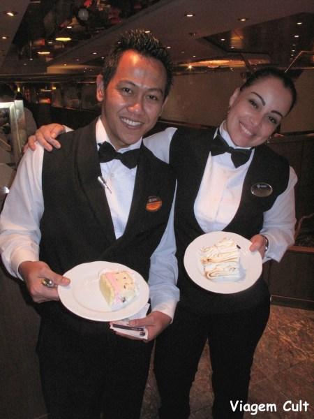 A Evelyn e seu colega das Filipinas
