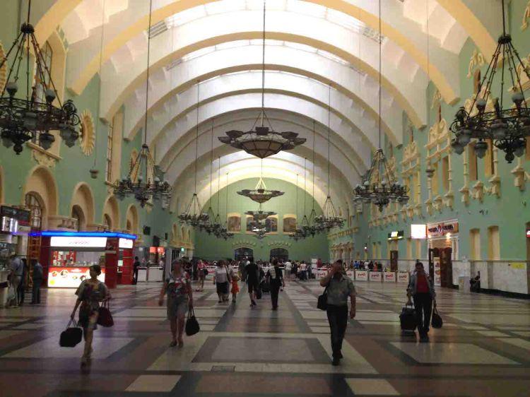 Estação russa de trem