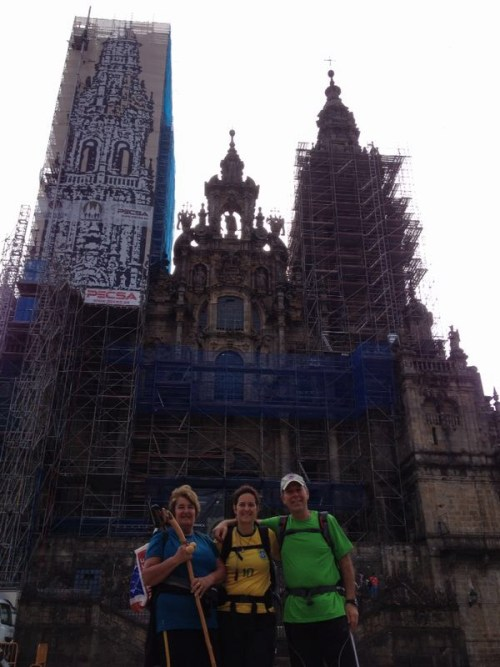 A tão esperada chegada à Catedral de Santiago de Compostela