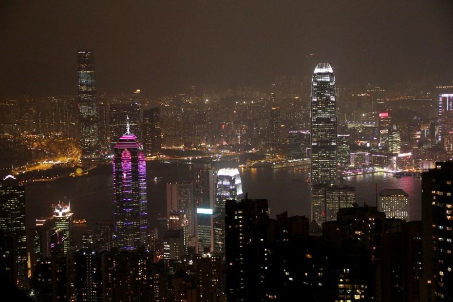Hong Kong vista do The Peak (foto: Eduardo Vessoni)