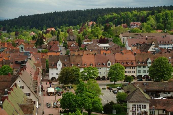Vista do centro de Freudenstadt, na Floresta Negra, na Alemanha