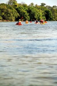 Canoagem no rio Novo, no Jalapão, Tocantins