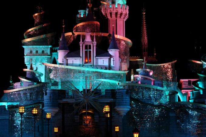 Detalhe do Castelo da Bela Adormecida, no parque da Disney, em Hong Kong