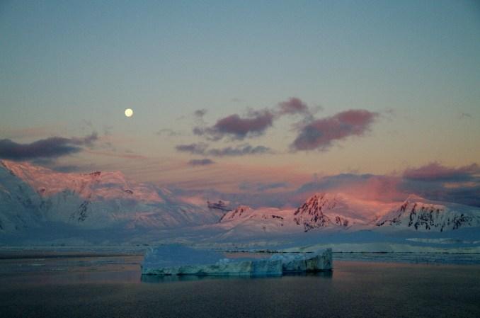 Final de tarde em Paradise Harbour, na Antártica(foto: Eduardo Vessoni)