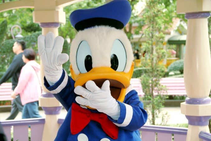 Pato Donald, na Disney de Hong Kong (foto: Eduardo Vessoni)
