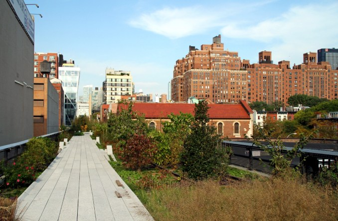 Vista do HighLine Park, em Nova York (foto: Eduardo Vessoni)
