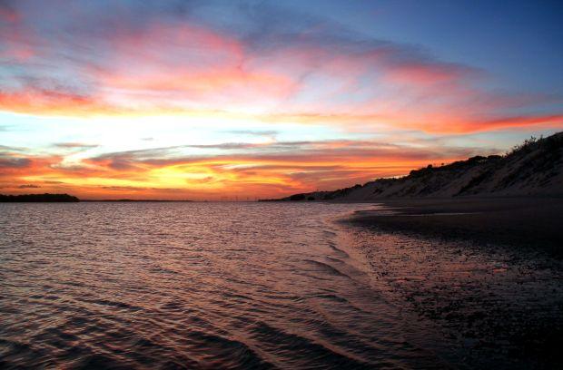 Final de tarde visto a partir da região da Duna do André, um dos clássicos da região de Galinhos (foto: Eduardo Vessoni)