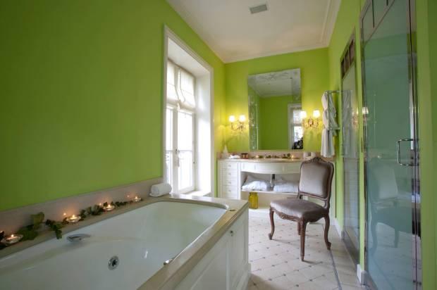 Banheiro da Junior Suite Vegetale do Hotel Particulier Montmartre, em Paris (foto: Divulgação)