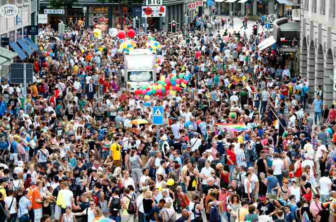 Zurich Pride Festival, na Suíça (foto: Pixxpower/Divulgação)