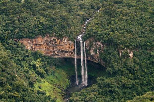 Cascata do Caracol, em Canela (foto: Eduardo Vessoni)