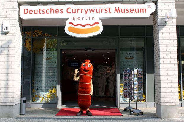 Entra do Currywurst Museum, em Berlim (foto: Divulgação)