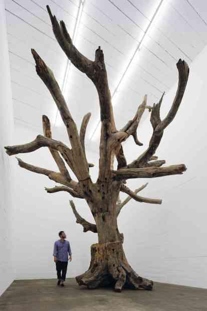 Obra do artista Ai Weiwei, na Sammlung Boros, em Berlim (foto: Noshe/Divulgação)