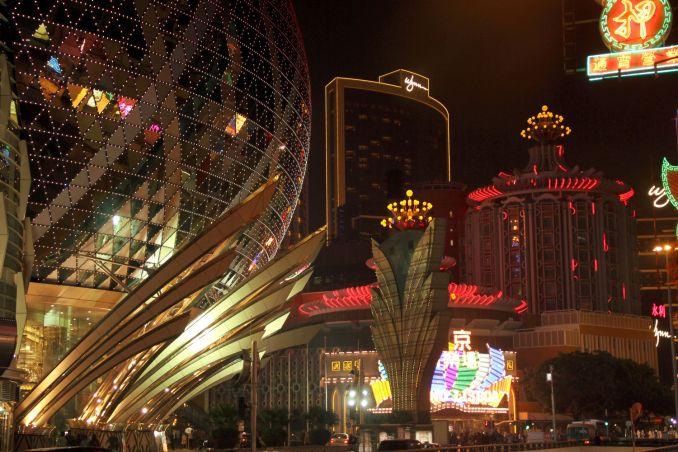 Setor de cassinos de Macau, no sul da China (foto: Eduardo Vessoni)
