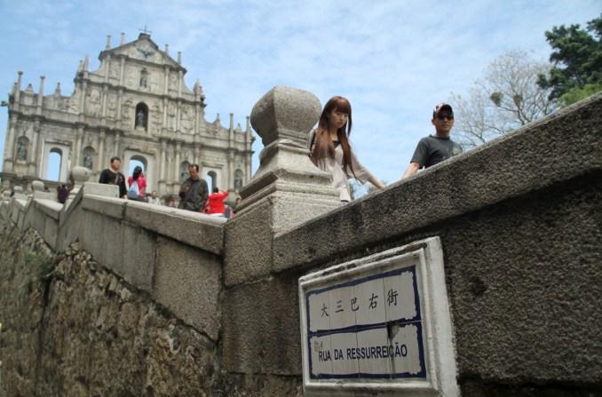Ruínas de São Paulo, em Macau, no sul da China (foto: Eduardo Vessoni)