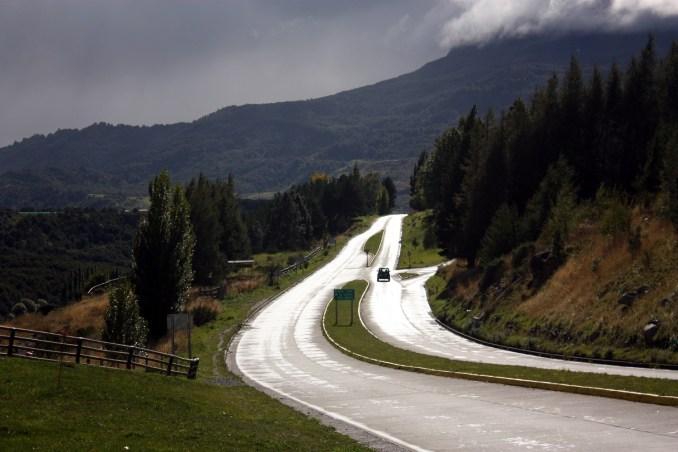 Vista da Carretera Austral, na região de Coyhaique (foto: Eduardo Vessoni)