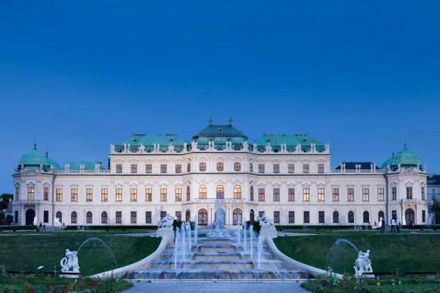 Vista do Belvedere Superior (foto: Ian Ehm/Belvedere Schloss)