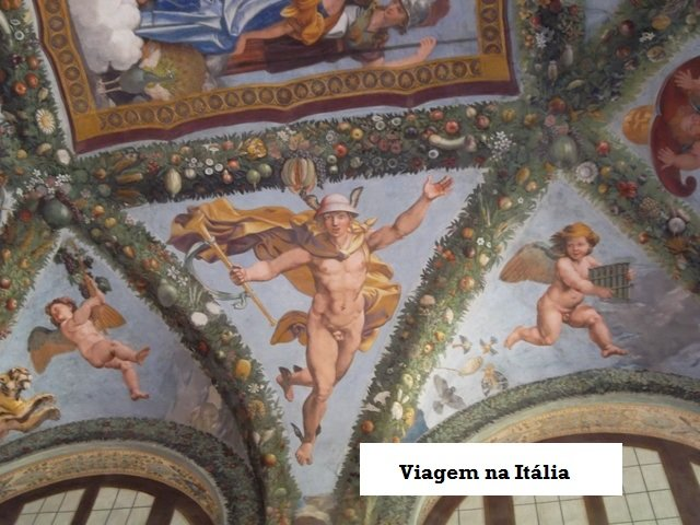 Villa Farnesina em Roma. Afrescos de Rafael Sanzio