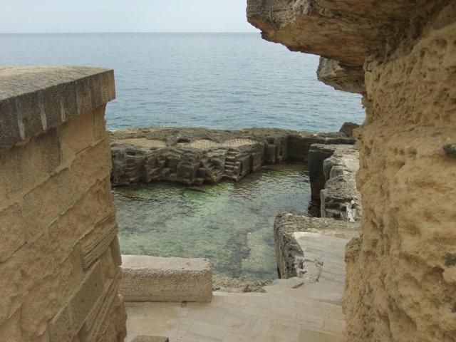 Dicas de viagem na Puglia (Apúlia). Piscinas naturais de Santa Cesarea Terme, Apúlia, Itália