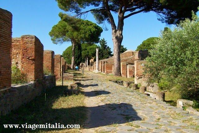 Monumentos italianos mais visitados: Ostia Antiga, perto de Roma