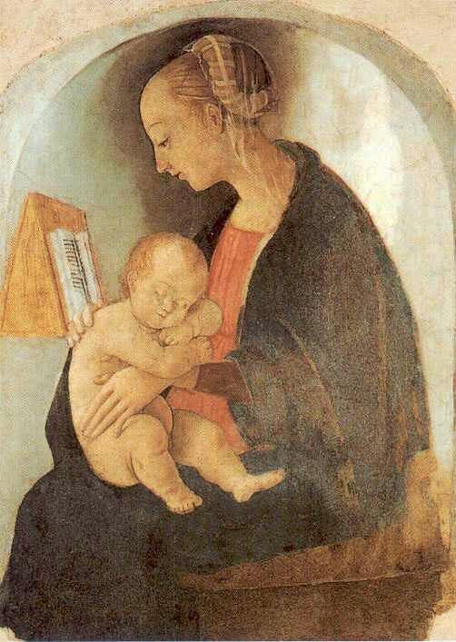 Madonna col bambino. Rafael Sanzio, artista italiano