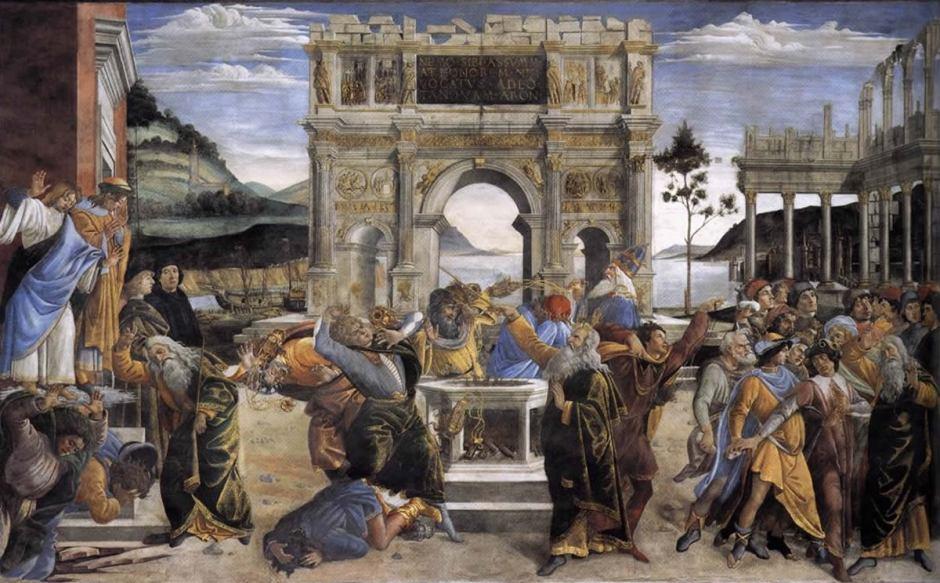 Biografia e obras de Botticelli na Itália. Castigo dos rebeldes