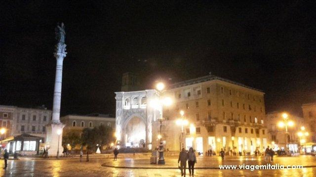 O que ver em Lecce. Piazza Sant'Oronzo