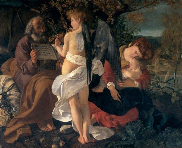 Descanso na fuga para o Egito - Caravaggio
