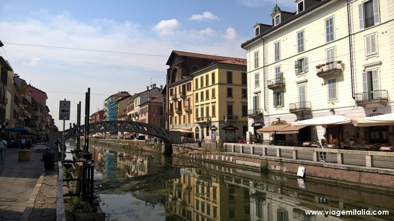 Canais de Navigli, Milão, obra de Leonardo da Vinci