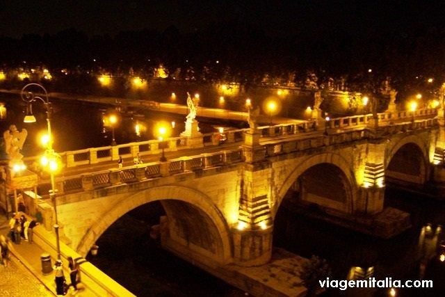 Castelo Sant'Angelo à noite, Roma