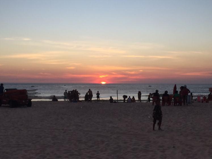 Pôr do sol na Praia Grande