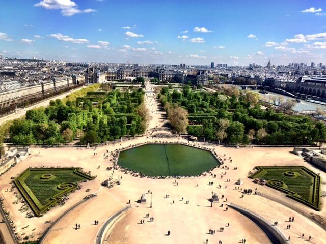 Jardin des Tuileries vista da Roda Gigante
