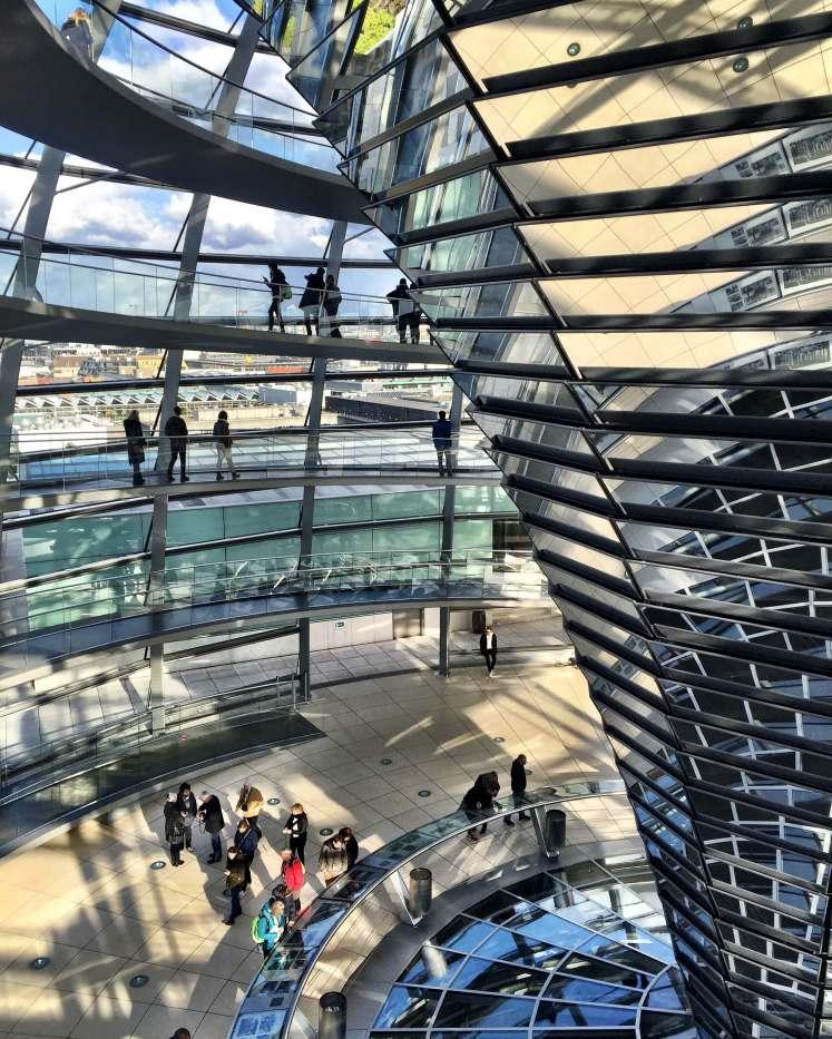 A cúpula do Reichstag, aberta à visitação.