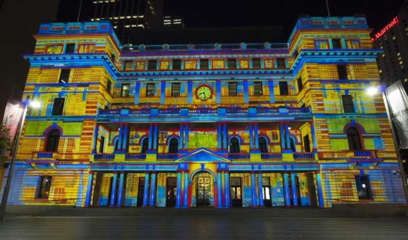 Customs House durante Vivid Sydney
