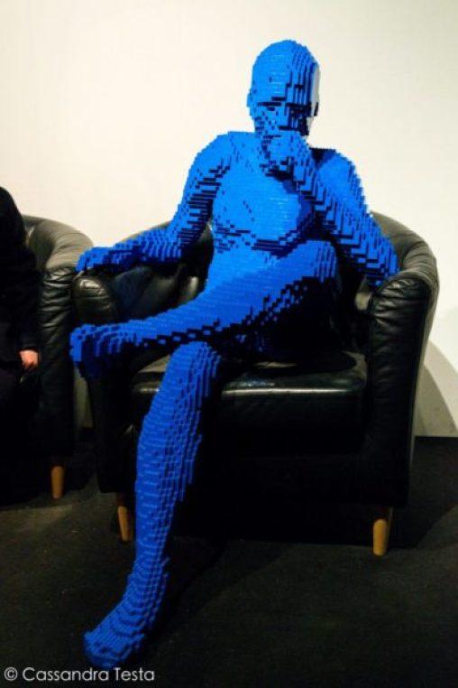 Blue Guy Sitting