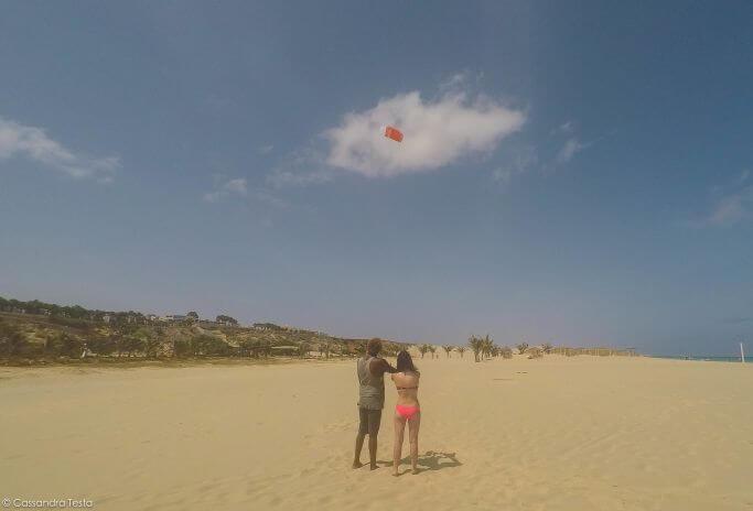 Alle prese con il Kite Surf