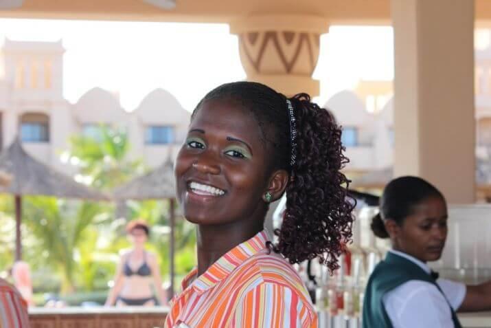 Cameriera a Capo Verde