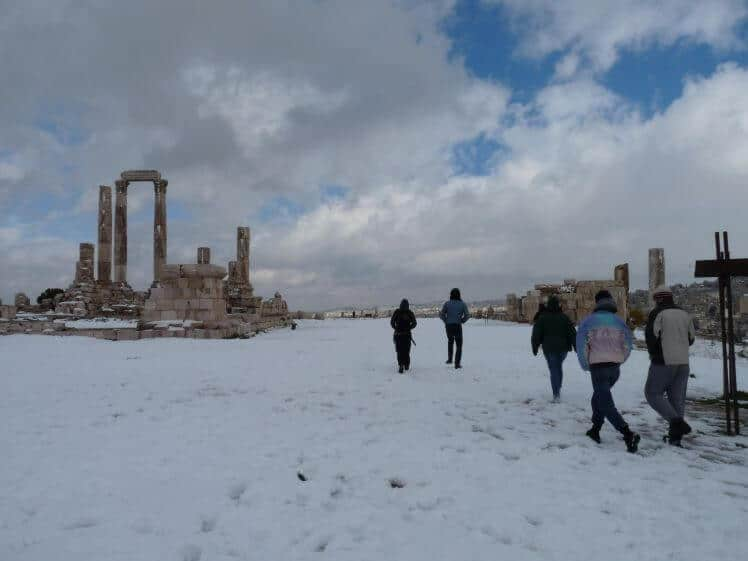 Amman con la neve