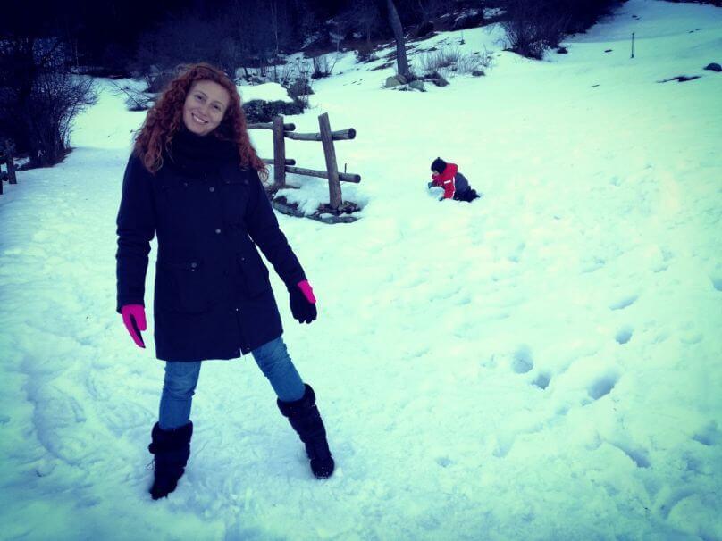 Cinzia sulla neve