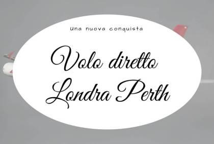 Volo diretto Londra Perth