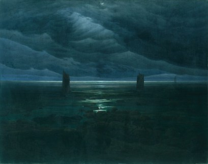 Caspar David Friedrich, Mare al chiaro di luna, 1835-1836