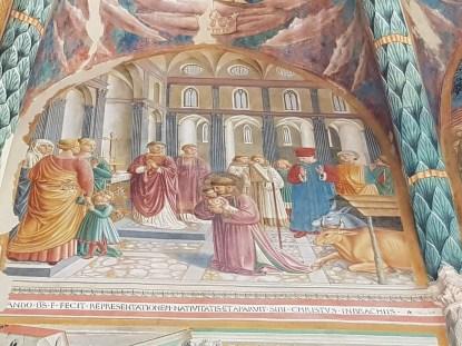 Affreschi di Benozzo Gozzoli nella cappella maggiore, Rievocazione del presepe a Greccio